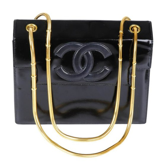 CHANEL - a vintage box chain handbag. Designed with a