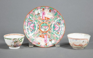 Chinese Export Polychrome Porcelain Saucer