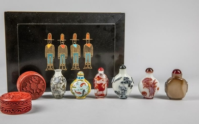 Collectible Box of Chinese Snuff Bottles
