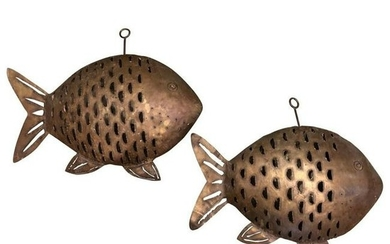 Contemporary Hanging Fish Candleholders 20th Century