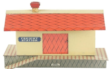 EARLY IVES O-GAUGE FREIGHT STATION.