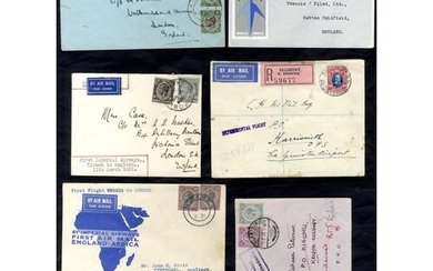 EAST AFRICA AIRMAILS 1929-57 small written up collection of ...