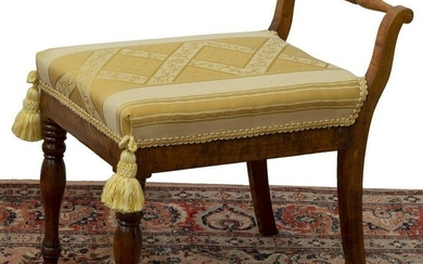 EMPIRE STYLE UPHOLSTERED SEAT BENCH