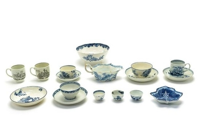 English 18th Century Porcelain Painted and Transfer