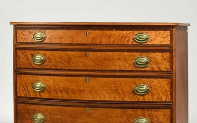 Fine Federal Bow Front Chest