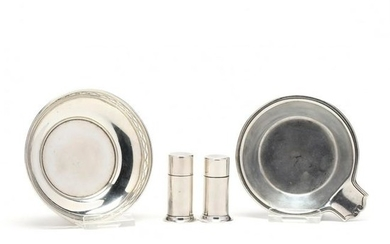 Four Tiffany & Co. Sterling Silver Table Accessories