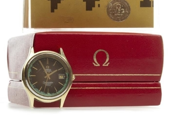 GENTLEMAN'S OMEGA SEAMASTER COSMIC 2000 GOLD PLATED AUTOMATIC WRIST...