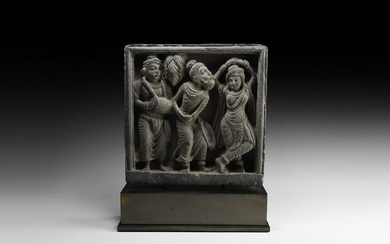 Gandharan Figural Frieze with Musicians