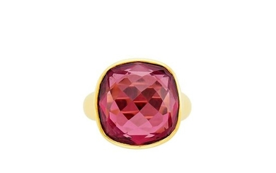 Gold and Pink Tourmaline Ring, McTeigue