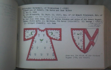 Historical genealogy of the Barnewall family of Ireland. Two massive typescript volumes.