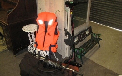 Inflatable Boat with Battery Powered Outboard Motor on twin ...