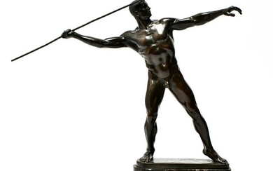 Karl Mobius Javelin Thrower Bronze Sculpture