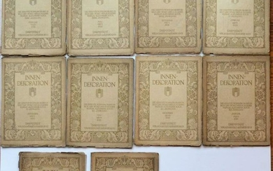 LOT of 10, 1928 to 1932 INNEN - DEKORATION PERIODICALS