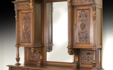 Large highly carved French buffet.