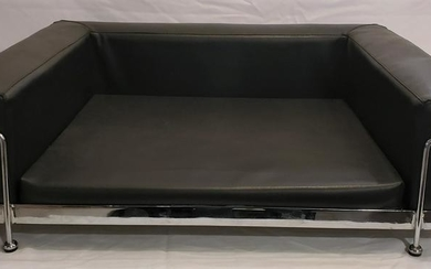 Le Corbusier Leather Dog bed with chrome Side Rails