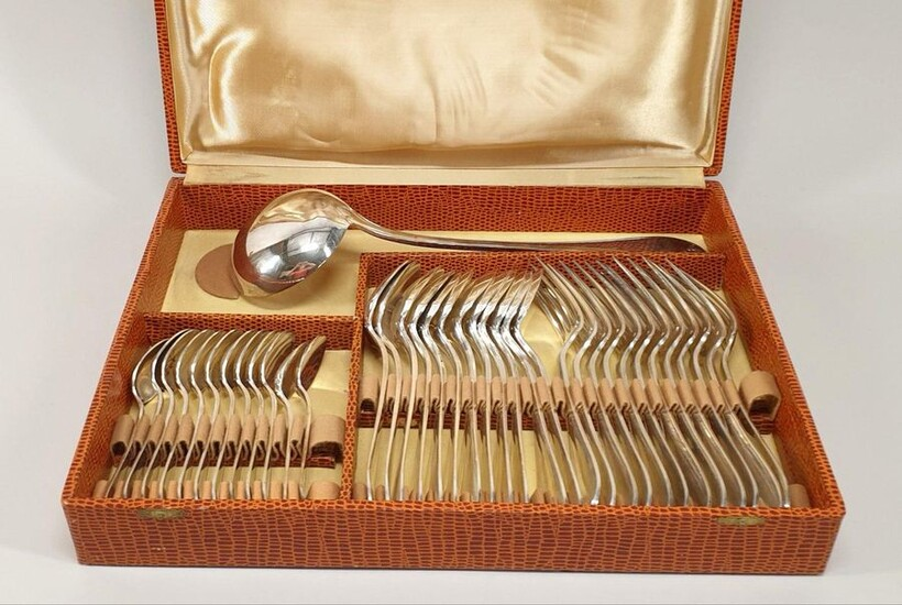 silver plated metal HOUSEHOLD including 12 spoons, 12 forks, 12...