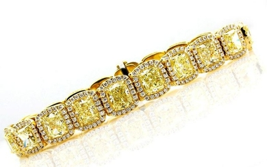 Magnificent 27.28ct Natural Fancy Yellow Radiant Cut