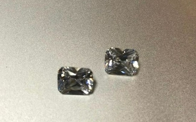 Matched Pair, 7.9ct Octagon Lab-created Bianco®
