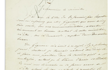 (NAPOLÉON.) Three items: Napoléon Jérôme Bonaparte. Letter Signed * Napoléon Eugène Louis Bonaparte. Signature on monogrammed stationer