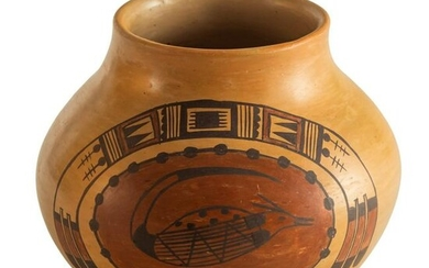 Native American Indian Nampeyo Pueblo Pottery Vase