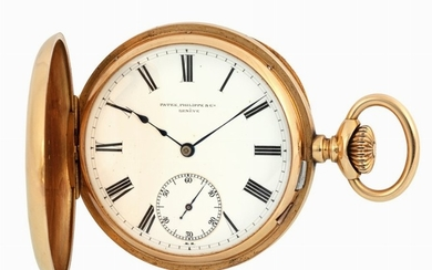 PATEK PHILIPPE - Elegant yellow gold pocket watch.