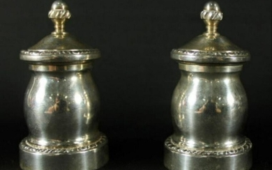 Pair Of Sterling Silver Salts