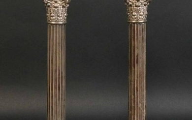 Pair of Gorham Sterling Corinthian Candlesticks