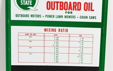 Quaker State Outboard Oil Metal sign (TAC)