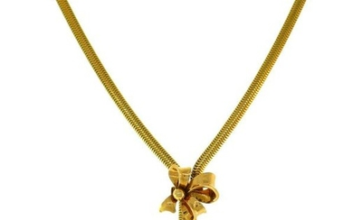 Retro 14 Karat Yellow Gold NECKLACE, 1940s