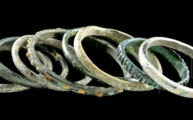 Roman Glass Bangles / Bracelets - 8 in Total!