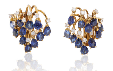 SAPPHIRE AND DIAMOND EARRINGS, MARCHAK