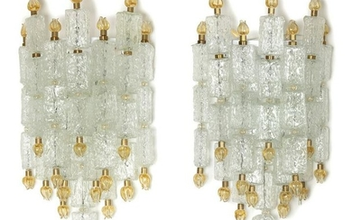 Set of 2 Appliques by Barovier and Toso