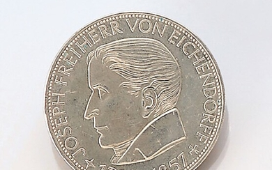 Silver coin 5 Mark, Germany 1957 ,...