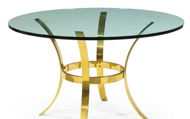 Solid Brass and Glass Center Table