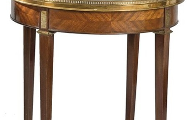 Table Boulloite Louis XVI, in mahogany wood with bronze