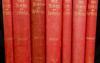 The Birds of Africa, comprising all the species which occur in the Ethiopian region. Complete 1st edition