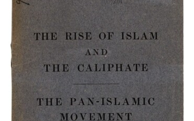 The Rise of Islam. London, 1919, 8vo, original wrappers