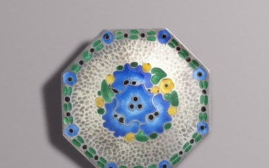 Theodor Fahrner, Silver and enamel brooch