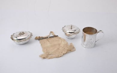 Three items of Chinese export silver retailed by Xin Feng Xiang