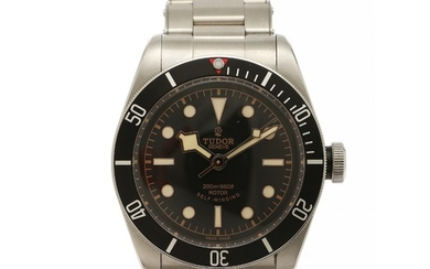 Tudor: A gentleman's wristwatch of steel. Model Heritage Black Bay, ref. 79220N. Mechanical movement with automatic winding. 2016.