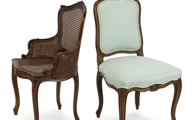 Two Pairs of Louis XV Style Chairs.