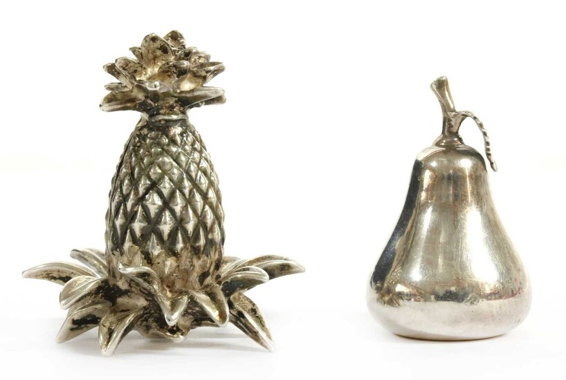 Two silver menu holders, by Tiffany & Co