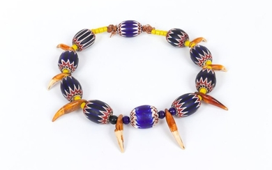 Very rare African necklace with Venetian pearls from...