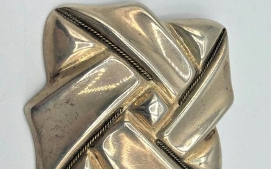 Vintage STERLING SILVER BROOCH Marked .925 MEXICO