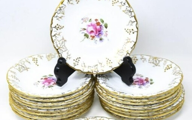 18 Royal Crown Derby Gold Vine Pattern Saucers