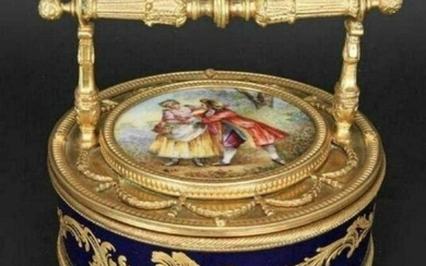 19TH C. ORMOLU MOUNTED FRENCH PORCELAIN BOX