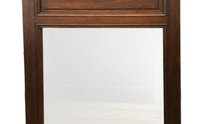 19thC French Carved Oak Mirror