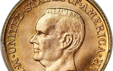 3751: 1916 G$1 McKinley Gold Dollar MS67+ PCGS. CAC. Th
