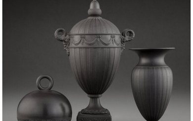 61051: Three Wedgwood Basalt Table Articles, England, e