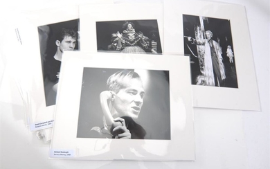 A COLLECTION OF TWENTY PRESS PHOTOGRAPHS OF MOSTLY AUSTRALIAN ACTORS, INCLUDING RICHARD ROXBURGH, RUSSELL CROWE, BARRY HUMPHRIES, J...